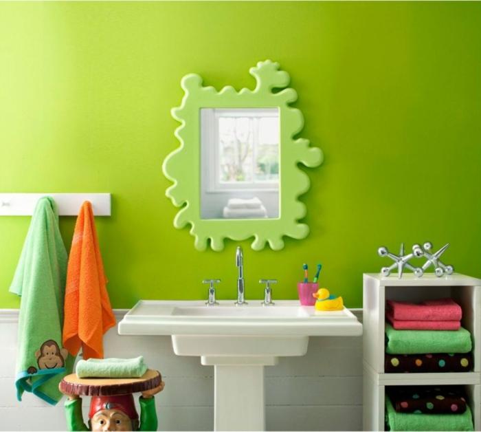 wände streichen ideen badezimmer kinder grüne wände