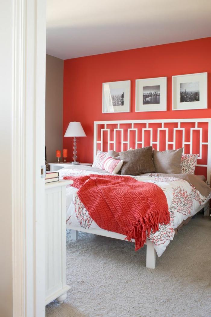 wände streichen ideen grelle farben schlafzimmer gestalten
