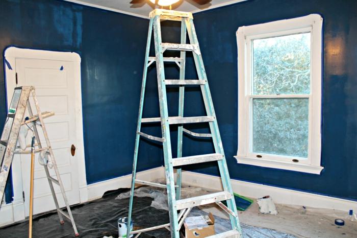 wandfarben wandfarbe palette beispiele dunkel blau2