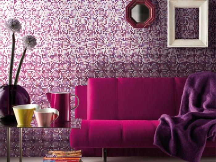 wandfarben wandfarbe palette beispiele flieder rosa schlafzimmer3