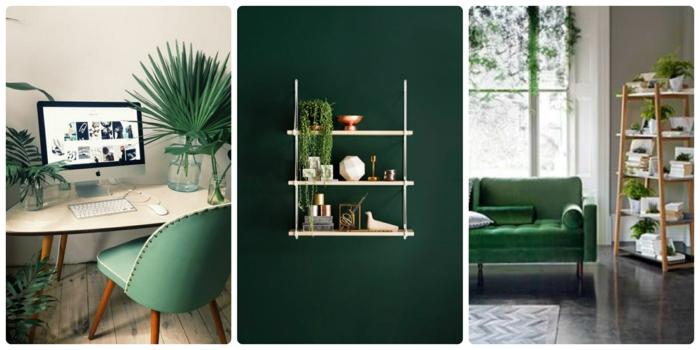 wandfarben wandfarbe palette beispiele vollton grün dunkel