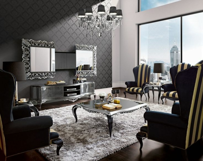 44 wandgestaltung ideen wie sie den raum beleben. Black Bedroom Furniture Sets. Home Design Ideas