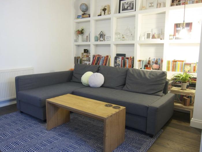 44 wandgestaltung ideen wie sie den raum beleben - Graues wohnzimmer ...