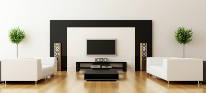 Muster Schwarz-Weiß wandgestaltung mit Farbe wandgestaltung schwarz weiß schlafzimmer einrichten mobiliar