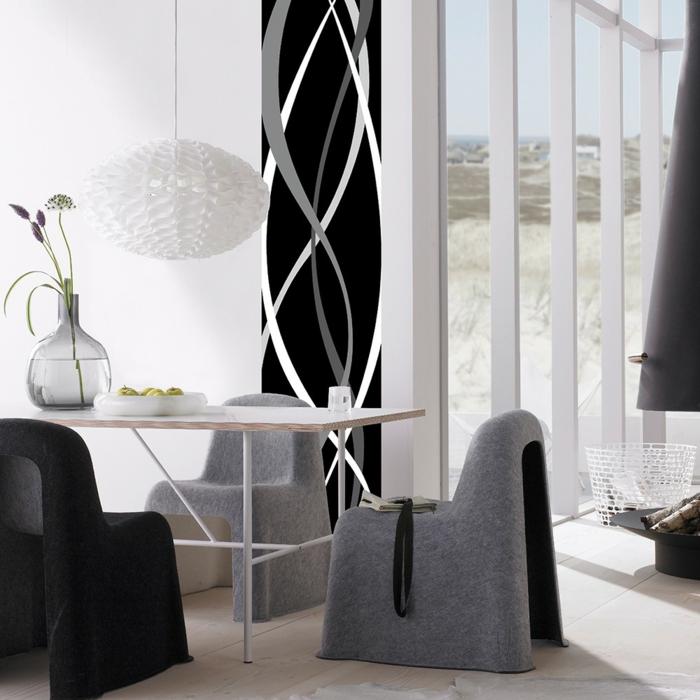 wandgestaltung schwarz weiß: teppich in dem flur schwarz weiss ... - Wohnzimmer Schwarz Weis Einrichten