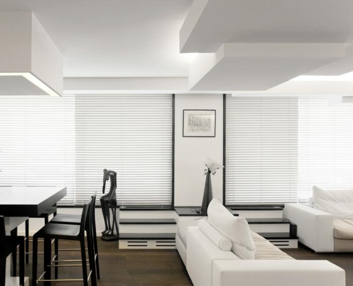 Muster Schwarz-Weiß wandgestaltung mit Farbe einrichtungsbeispiele