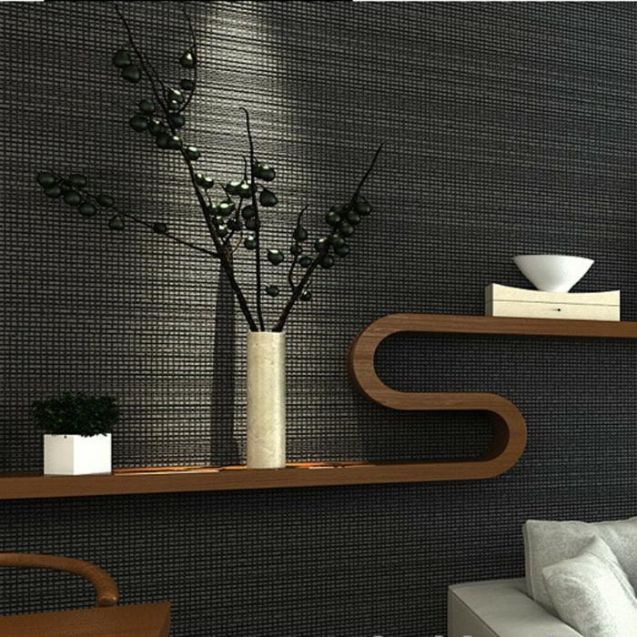 Muster Schwarz-Weiß wandgestaltung mit Farbe einrichtungsbeispiele schwarz weiß wohnzimmer einrichten fein