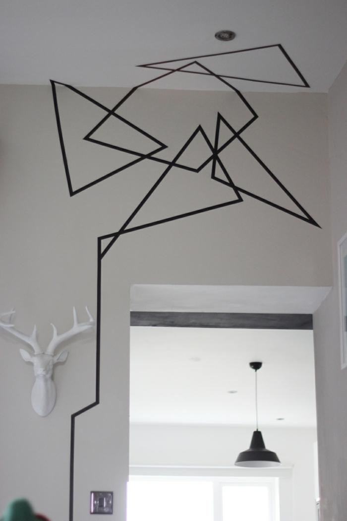 Muster in Schwarz-Weiß wandgestaltung mit Farbe einrichtungsbeispiele schwarz weiß wohnzimmer einrichten philippe starck lampen und leuchten