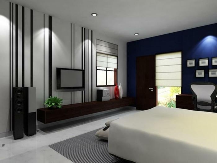 Muster in Schwarz-Weiß wandgestaltung mit Farbe schwarz weiß wohnzimmer einrichten streifen