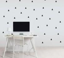 100 Muster Schwarz-Weiß lassen Sie die Wandgestaltung mit Farbe vergessen