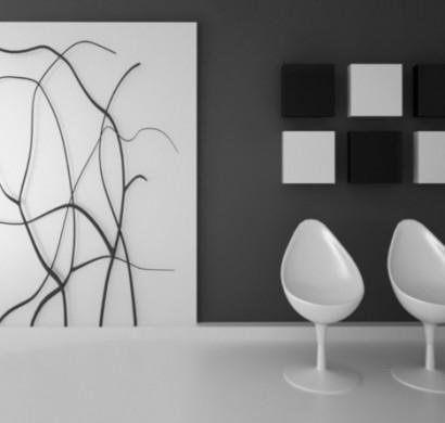 wohnzimmer und kamin : wohnzimmer wandgestaltung schwarz weiß, Hause deko