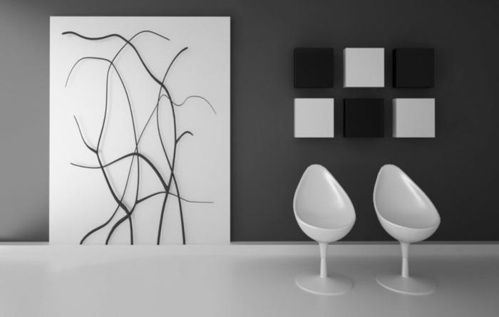 Wohnzimmer wandgestaltung schwarz weis haus design ideen - Raumgestaltung schwarz weis wohnzimmer ...