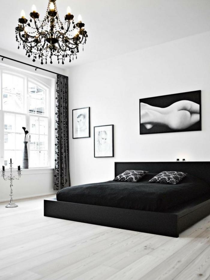 Muster in Schwarz-Weiß wandgestaltung mit Farbe schwarz weiß wohnzimmer einrichten weiss schwarz akt