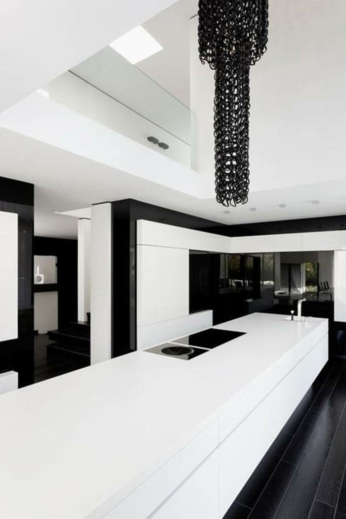 Muster in Schwarz-Weiß wandgestaltung mit Farbe schwarz weiß wohnzimmer einrichten weiss schwarz küche