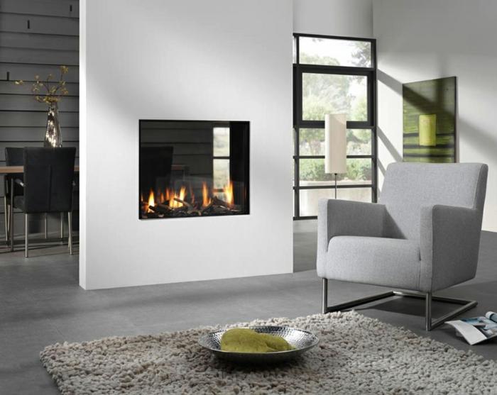 Muster in Schwarz-Weiß wandgestaltung mit Farbe schwarz weiß wohnzimmer einrichten weiss schwarz kamin