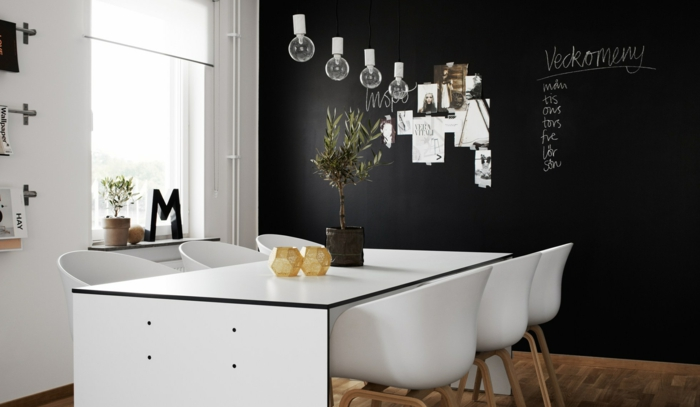 Muster Schwarz-Weiß wandgestaltung mit Farbe wandgestaltung schwarz weiß wohnzimmer einrichten