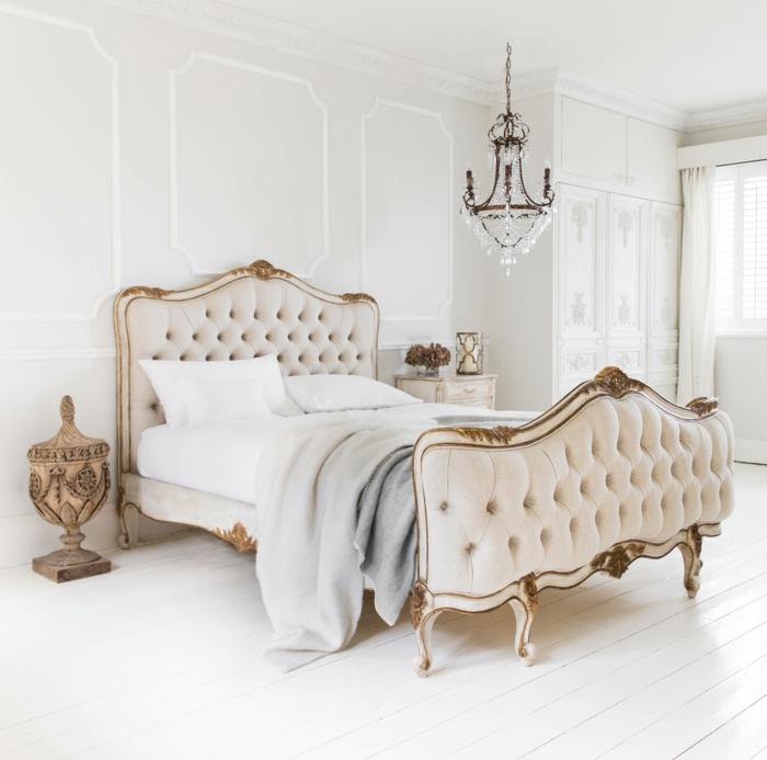 weißes schlafzimmer luxuriöses bett dekoideen schlafbereich