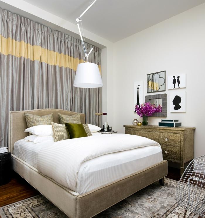weißes schlafzimmer weiße wände neutrale akzente kleines schlafzimmer