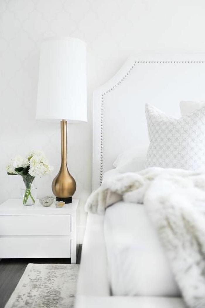 wohnideen schlafzimmer heller teppich dekoideen