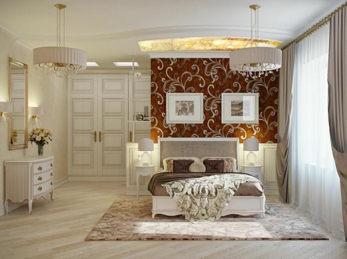 wohnideen schlafzimmer luxuriöses interieur ornamente