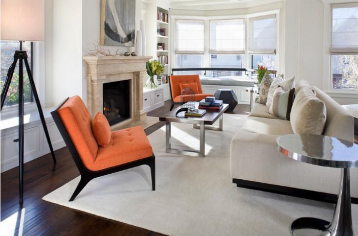 Wohnzimmer orange schwarz  modernes sofa ? designer couch fürs wohnzimmer aus leder ? schwarz ...