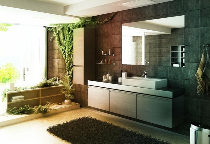 wohntrends badezimmer gestalten pflanzen naturnah