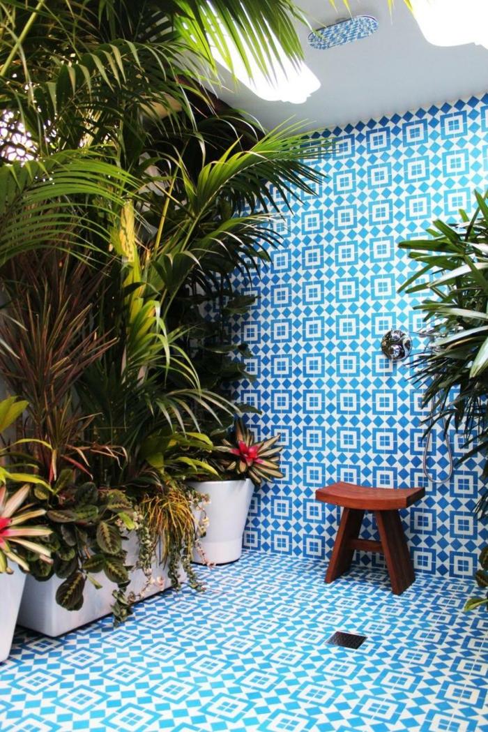Mit zimmerpflanzen das zuhause dekorieren 60 beispiele for Quelle plante dans une salle de bain