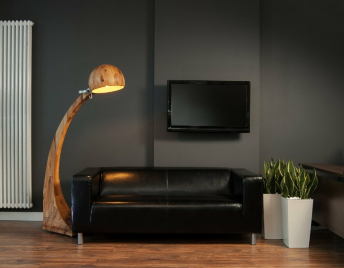 wohnzimmer pflanzen lampe. Black Bedroom Furniture Sets. Home Design Ideas