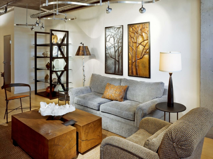 wohnzimmerdeko 24 beispiele wie man ein sch nes ambiente schafft. Black Bedroom Furniture Sets. Home Design Ideas