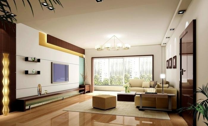 wohnzimmer einrichten ideen led leuchten schicke möbel