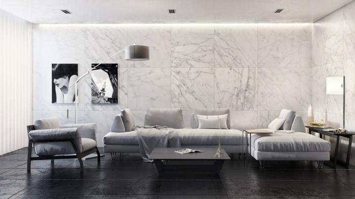 fliesen wohnzimmer wand:Wohnzimmer Fliesen – 86 Beispiele, warum Sie den Wohnzimmerboden mit