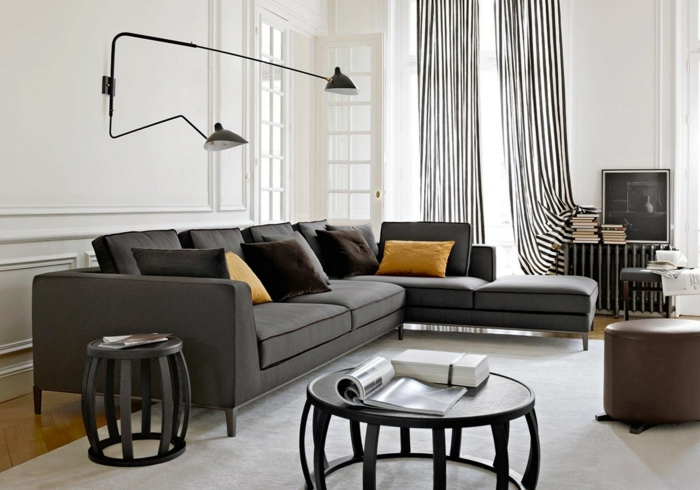 Gardinen wohnzimmer ein accessoire mit vielen funktionen - Wohnzimmer sofa stellen ...