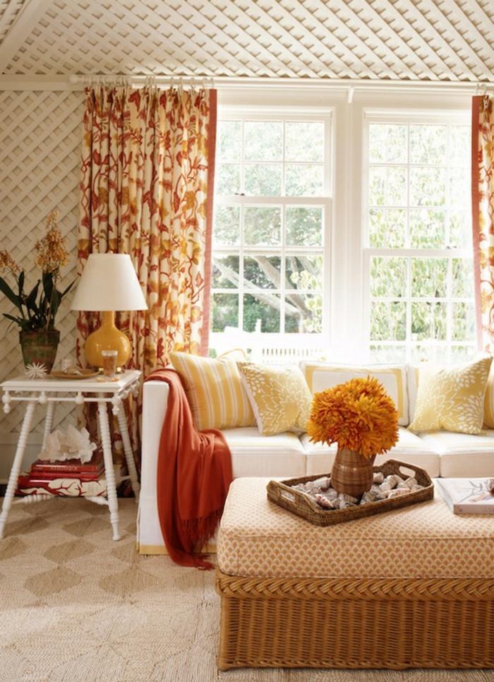 gardinen wohnzimmer ein accessoire mit vielen funktionen. Black Bedroom Furniture Sets. Home Design Ideas