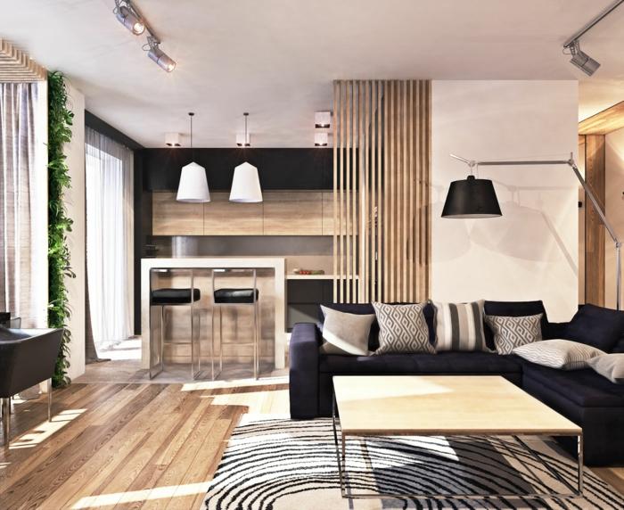 wohnzimmer sofa graues sofa teppichmuster