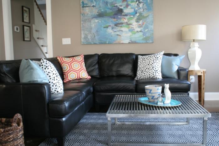 stunning wohnzimmer sofa schwarz images - sohopenthouse
