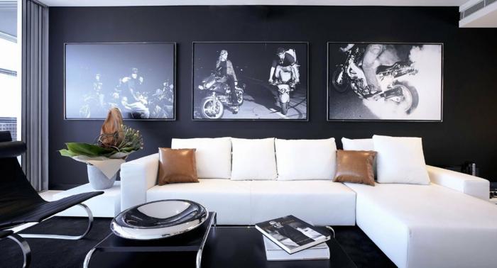 Stilvoll Wanddeko Wohnzimmer ~ Wohnzimmerdeko beispiele wie man ein schönes