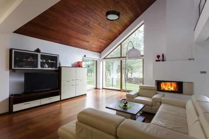 wohnzimmereinrichtung ideen schicke wozhnzimmermöbel kamin wohnwand