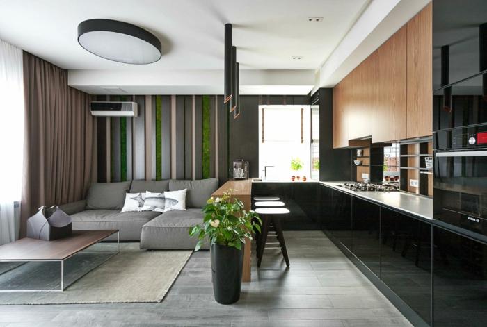 Wohnzimmereinrichtung Ideen Wohnbereich Essbereich Trennen