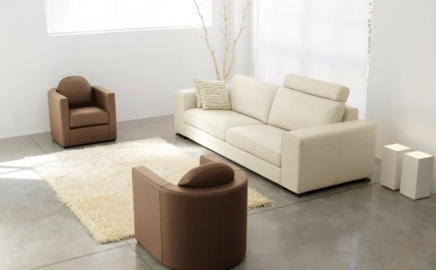 Wohnzimmer einrichtungsideen mit attraktivem mobiliar for Braune ledersessel