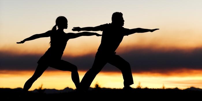 yoga zeitschrift asana krieger paaryoga praxis