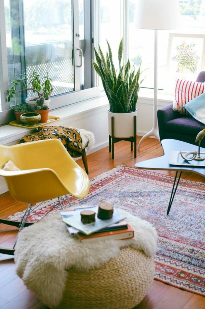 Mit zimmerpflanzen das zuhause dekorieren 60 beispiele for Schaukelstuhl dekorieren