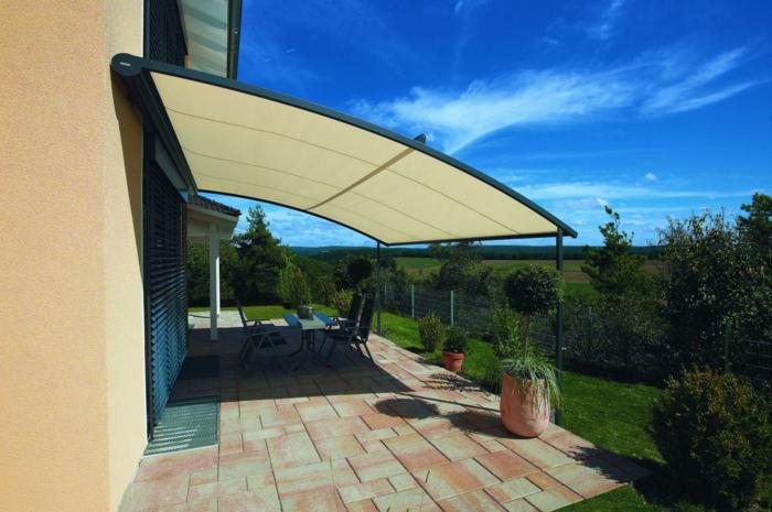 überdachung terrasse ideen außenbereich gestalten
