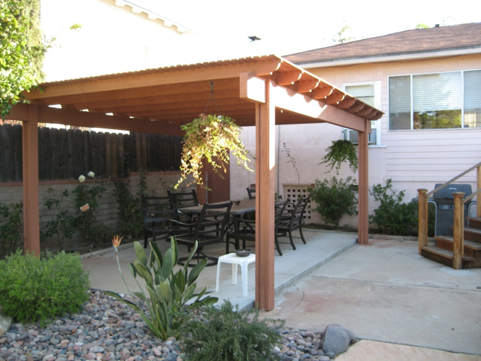 überdachung terrasse patio ideen außenbereich