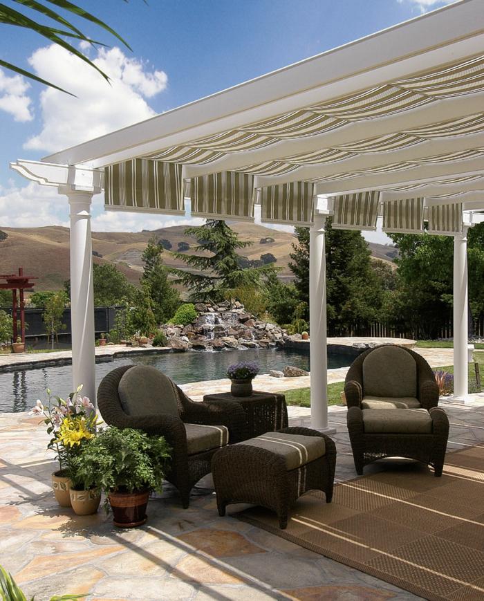 überdachung terrasse stilvolle gartengestaltung ideen gartenmöbel