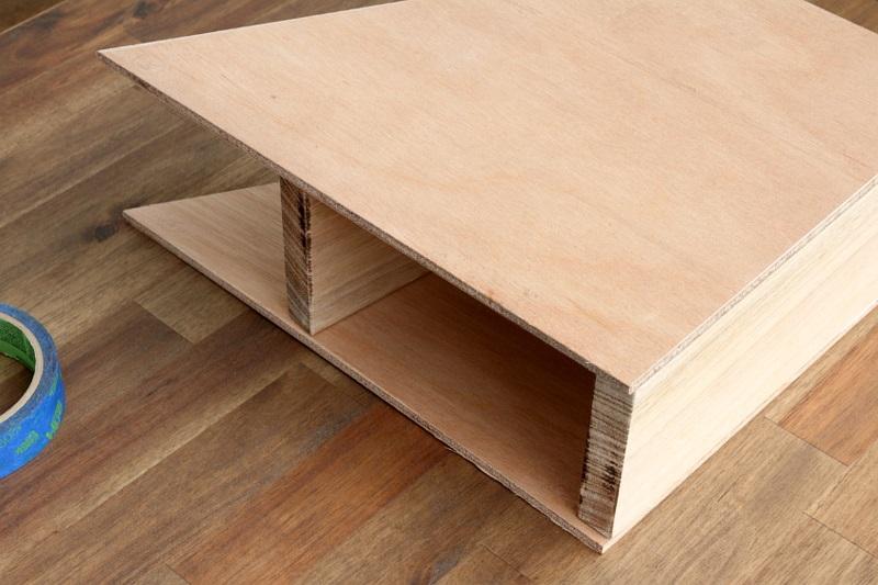 Büroaccessoires Stehsammler aus Holz bauen Bürozubehör DIY Ideen