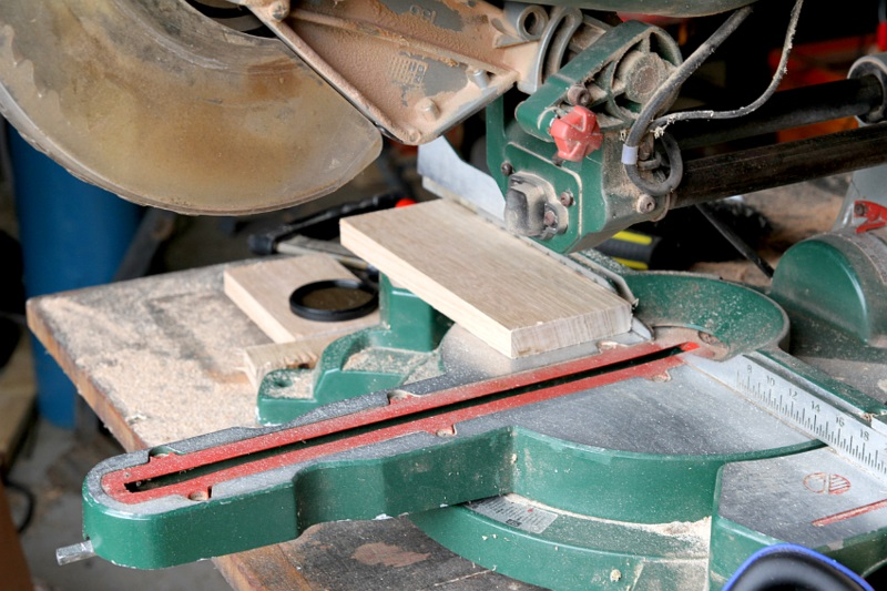 Büroaccessoires Stehsammler aus Holz selber bauen Arbeitsprozess