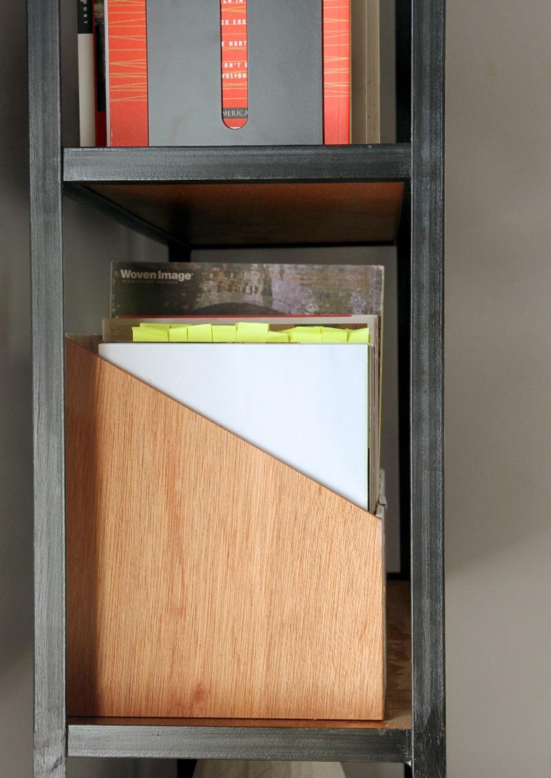 Büroaccessoires Stehsammler aus Holz selber bauen Bürozubehör Büroregale