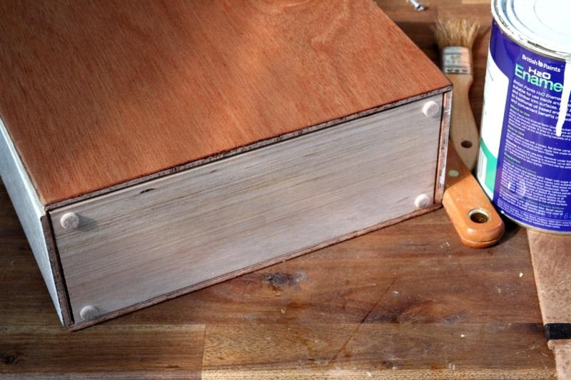Büroaccessoires Stehsammler aus Holz selber bauen Bürozubehör Zeitschriftensammler