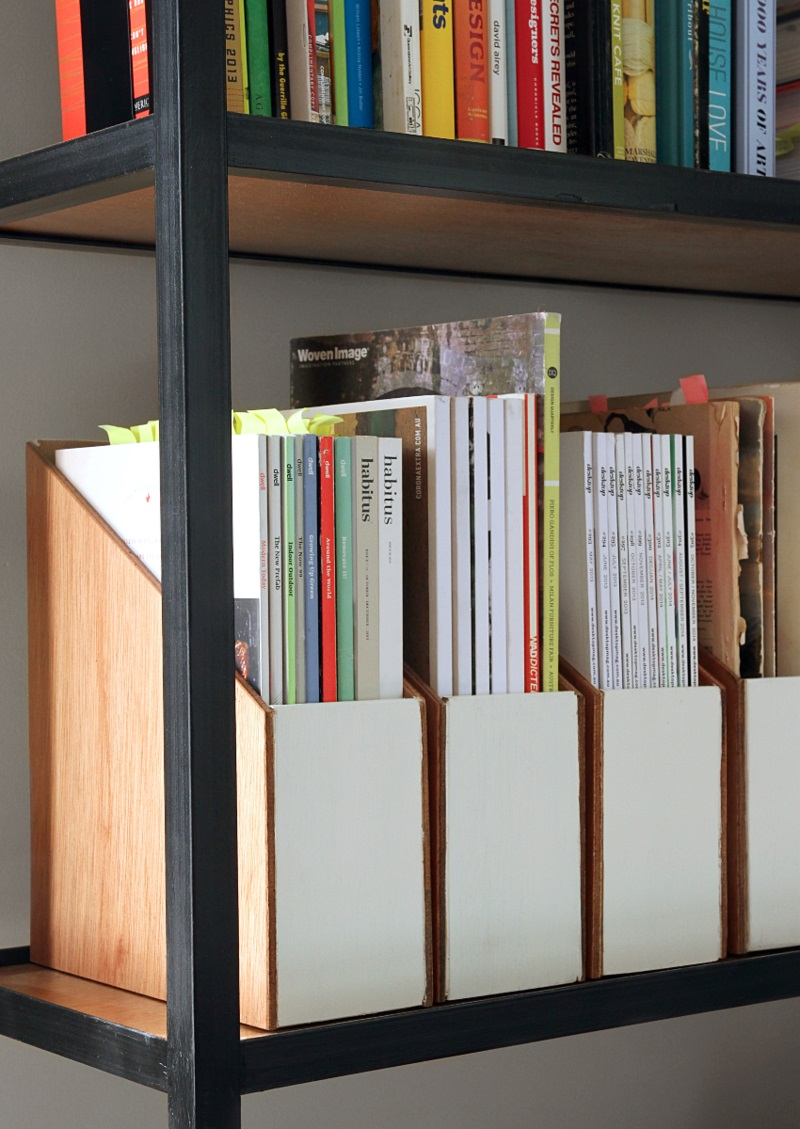 Büroaccessoires Stehsammler aus Holz selber bauen Bürozubehör