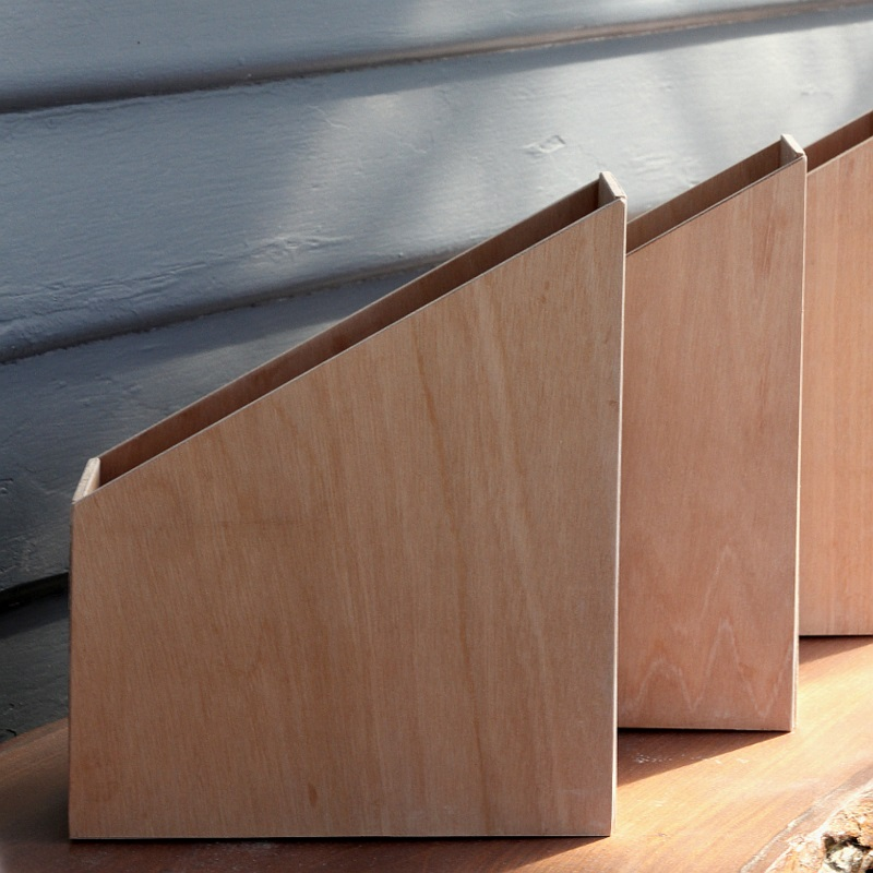 Büroaccessoires Stehsammler aus Holz selber bauen DIY Bürozubehör